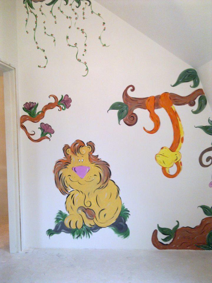 Muurschildering  www.peperkoekhuisje.nl